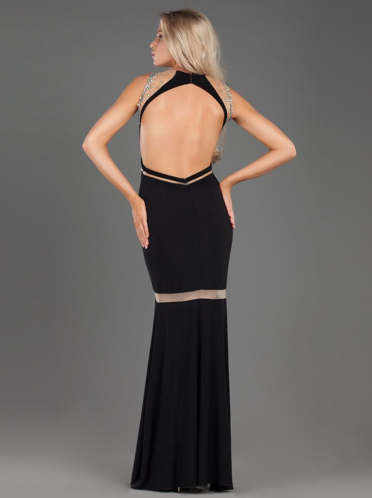 So stunning Long Evening Jersey Dress with Beading and Transparencies... http://mikael.gr/en/new-collection/55106.html