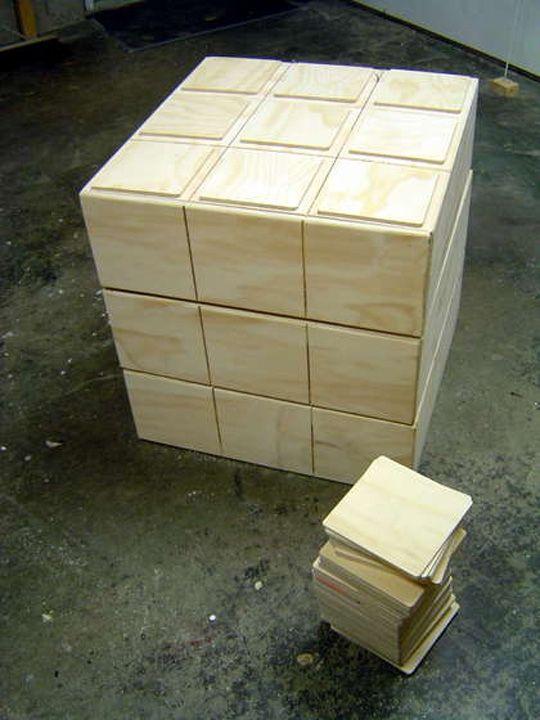 DIY Rubik's kubus nu ook in de vorm van een commode