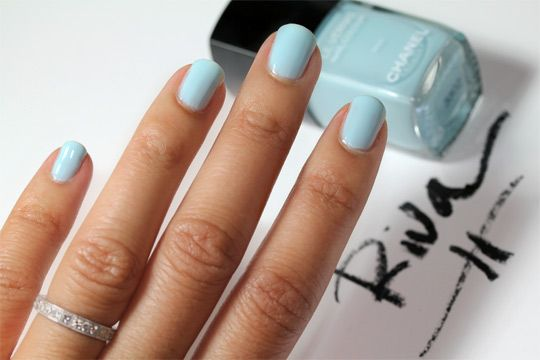 perfect robin's egg blue. spring is here!: Nails Colour, Baby Blue, Colors Makeup, Chanel Riva, Tiffany Blue, Nails Polish, Blue Colors, Summer Colors, Blue Nails
