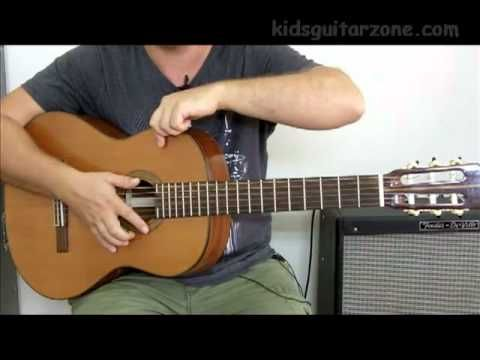 Guitar lesson 1A : Beginner -- Free online guitar lessons for kids