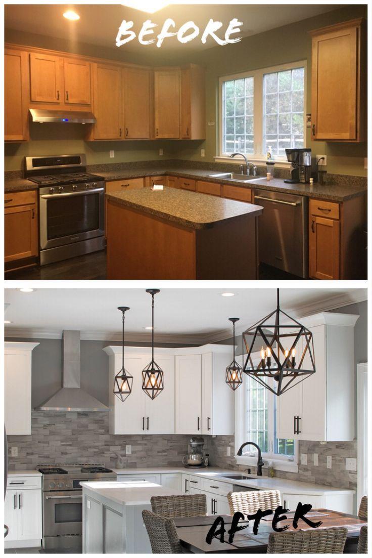 Renovation D Une Cuisine Avant Apres Cuisines Relooking Habitation Vivahabitation Insp Kitchen Design Kitchen Cabinets Makeover Kitchen Renovation