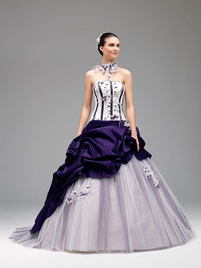 purple lilac silver grey wedding by annie couture mariage violet parme mauve gris argent robe-annie-couture-arlety