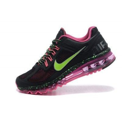 Wmns Nike Air Max 2013 Women Shoes Black green pink