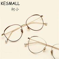 fc648d879a0 KESMALL Alloy Glasses Frame Women Men Metal Optical Eyeglasses Frames Gold  Silvery Color Vintage Eyewear Fashion Oculos YJ1048