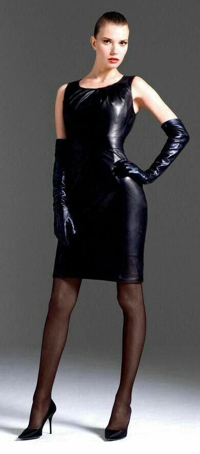 tight sleevless dress ... with long gloves and propper dark hosiery + high  heels  hothighheelstightdresses  Stilettoheels e33f3886c977