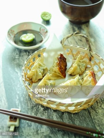 The characteristic of gyoza compared to the original Chinese dumplings is the crisp bottom and soft topside. Maybe it requires a little bit more technique to prepare gyoza.