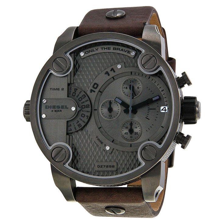 Diesel only the brave chronograph dual time zone dial