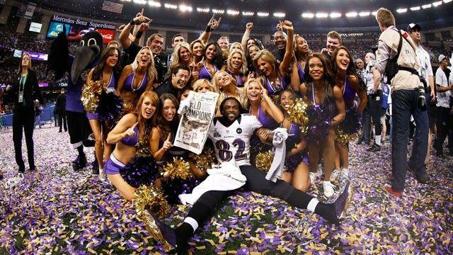 Baltimore Ravens Beat San Francisco 49ers. Torrey Smith #82 of the Baltimore Ravens