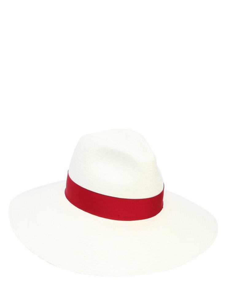 BORSALINO SOPHIE WIDE BRIM FINE STRAW PANAMA HAT. #borsalino #