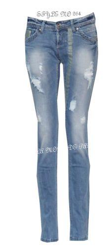 Z38 new womens skinny ripped jeans ladies slim fit denim casual trousers  pants