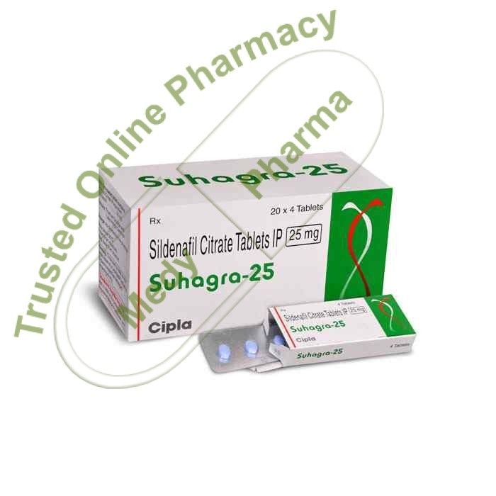 Buy Suhagra 25mg Suhagra 25mg Tablet is used in the treatment of erectile dysfunction and pulmonary hypertension.   Side effects of Suhagra Tablet Headache, Diarrhoea, Dyspepsia, Flushing (sense of warmth in the face, ears, neck and trunk), Pain in extremity.   How to use Suhagra Tablet Take this medicine in the dose and duration as advised by your doctor. Swallow it as a whole.   #ciplasuhagra25mg #suhagra25mg #suhagra25mgbuyonline #suhagra25mgbuyonlineindia #s