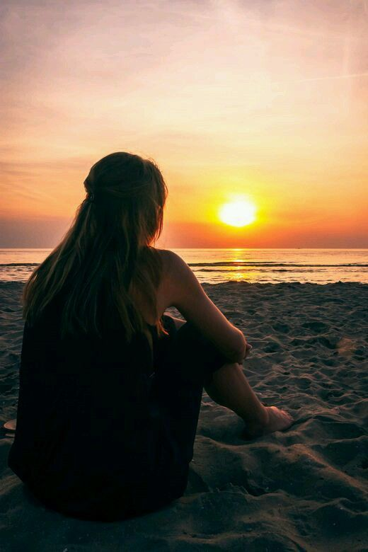 Quando você está em um Sonnenuntergang, na morgen früh wieder em kann, ela fica no próximo Moment vermisst, wird er nie wiederkommen  – Fotografieren