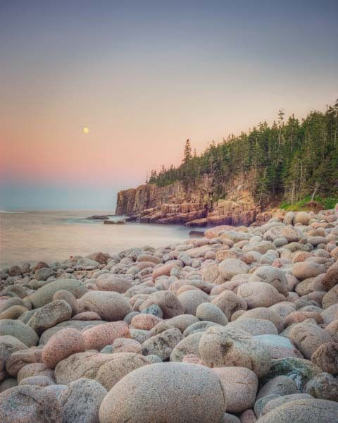 Moonrise, Acadia National Park - fine art Maine landscape photography print by Allison Trentelman | Rocky Top Studio