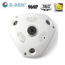 2017 Z-BEN 1280*960 360 Degree Fisheye Panoramic Camera HD Wireless VR Panorama HD IP camera P2P Indoor Cam Security WiFi Camera