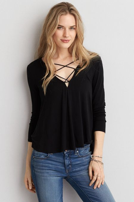 American Eagle Outfitters AEO Soft & Sexy Swing T-Shirt