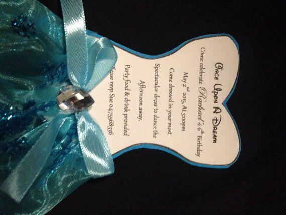 Disney Frozen Dress Invitation by PerfectlyPersonalise on Etsy