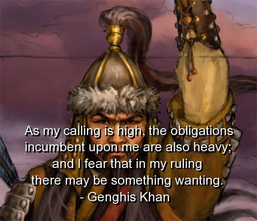 genghis khan, quotes, sayings, famous, great, quote