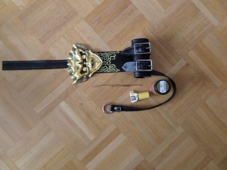 completed sword holder