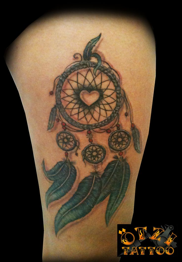 Dreamcatcher Tattoo, Love the heart in the middle and ...