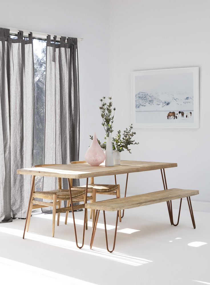 make a dining room statement with oz design furnitures ravi dining table and bench seat dressed with stunning pastel home wares