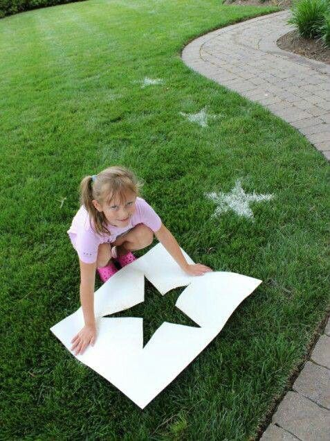 use baby powder, make a stencil for the number 1!