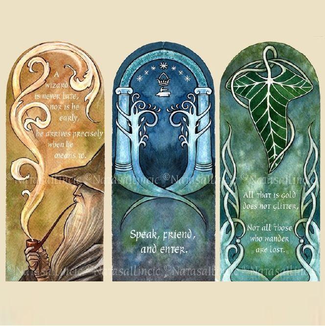 Estupendos marcapáginas de 'El Señor de los Anillos'