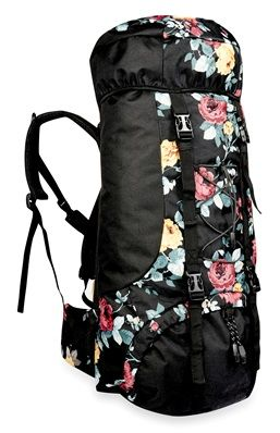 Festival Essentials: Floral Printed Festival Backpack.
