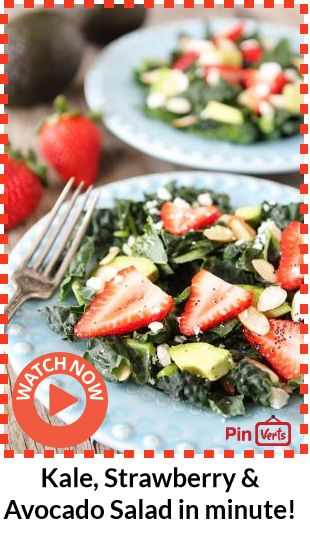 avocado salad, Salad with strawberries and Poppy seed dressing ...