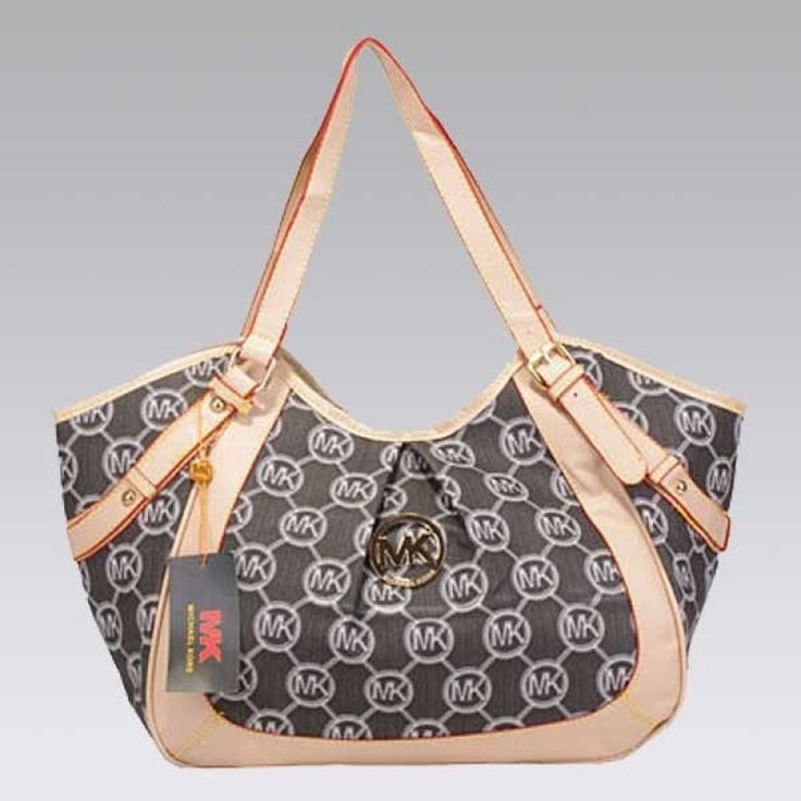 MICHAEL Michael Kors Large Whipped Zip-Top Monogram Tote