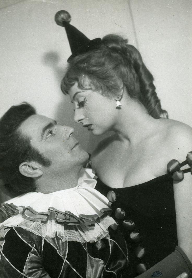 Zenthe Ferenc (Philip) és Váradi Hédi (Dolly). Shaw, George Bernard: Sose lehet tudni. Madách Kamaraszínház, 1956. október 12. R.: Bozóky István