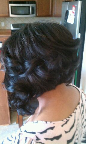 Curled Bob....if I was willing to cut my hair this would be my style!