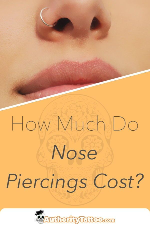 Nose Piercing Price Guide How Much Do They Cost Nose Piercing