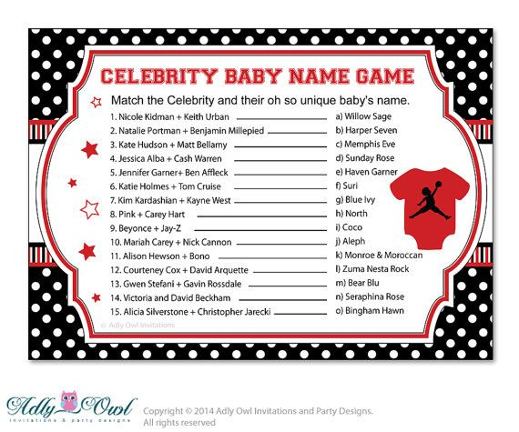 113 Hot Celebrity Baby Names - Baby Names | Nameberry