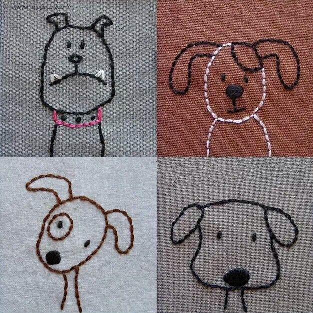 Embroidery -- Cute for a onesie - quick embroidery - pets - dogs