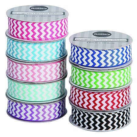 Rosie's Studio Grosgrain Chevron 1m x 15mm Assorted