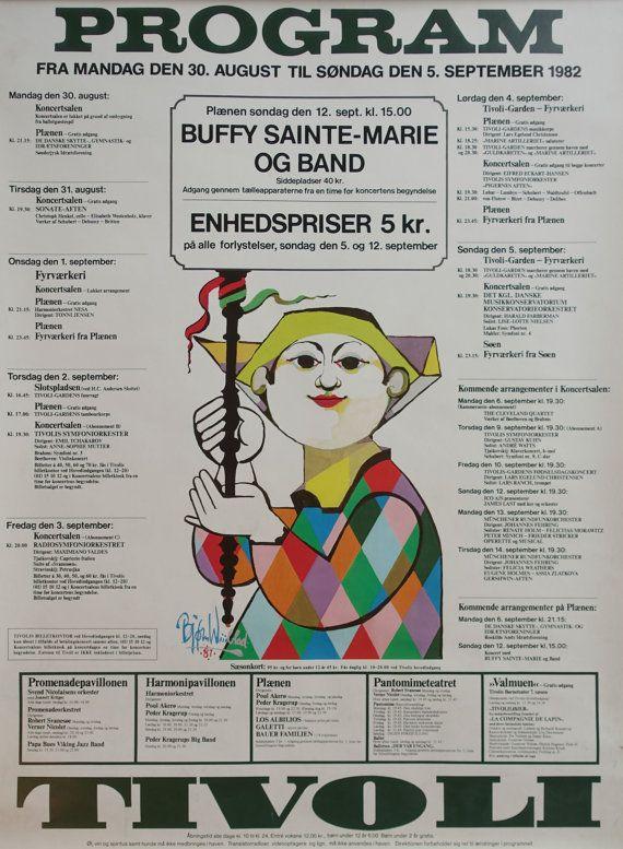 1982 Tivoli Gardens Program by Wiinblad - Original Vintage Poster