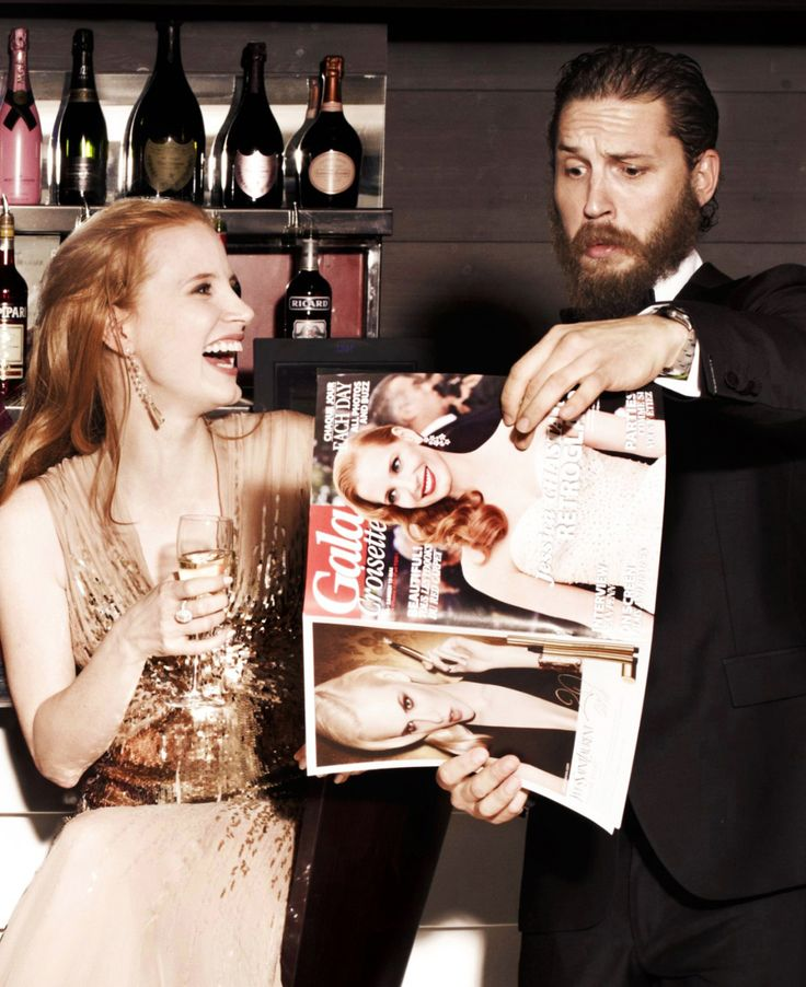 Tom Hardy & Jessica Chastain at the Lawless Premiere in Cannes 2012, France / TH0056C