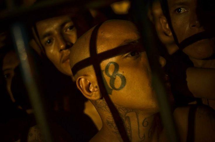 .Incarcerated members of the Mara 18 gang inside the Izalco prison in Sonsonate, El Salvador - Meridith Kohut