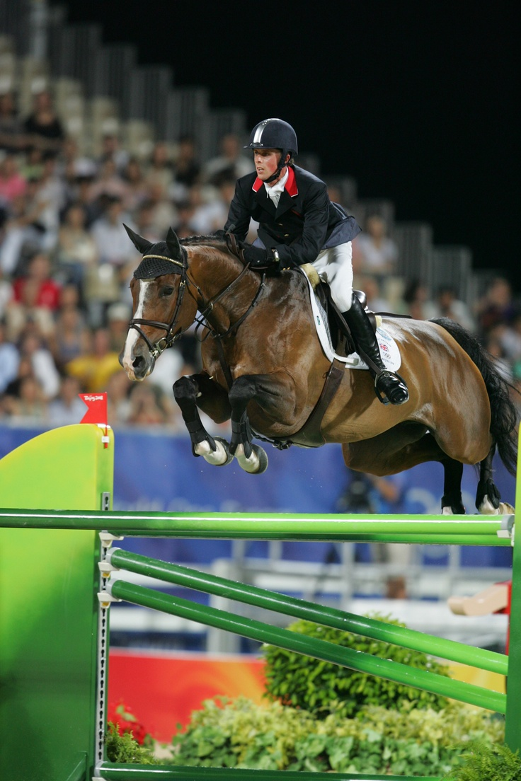 Britain's Ben Maher and Rolette at the Bejing Olympics - Ben is currently recovering from broken vertebrae after falling from a young horse #horses #showjumping #equestrian