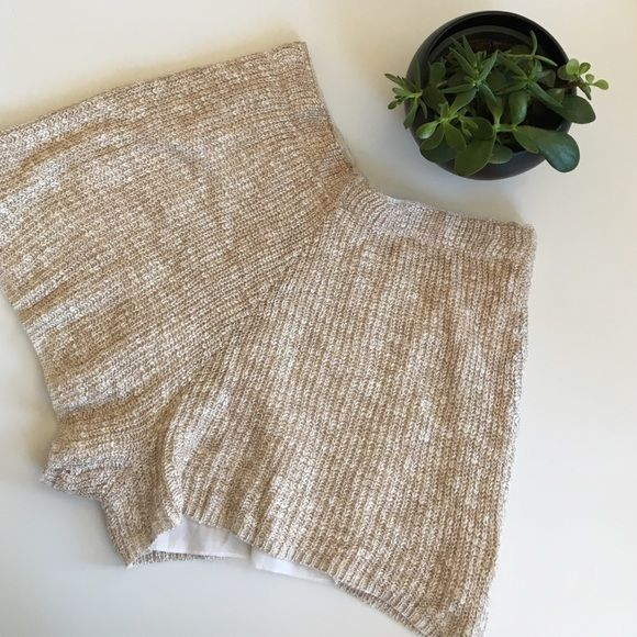 "Love Riche Knit Shorts SALE Love Riche Knit Shorts has a inner lining and stretch elastic waistband. Measures at waist 13.75"" and length 12.5"" mid leg inseam 2.5"" Brandy Melville Shorts"