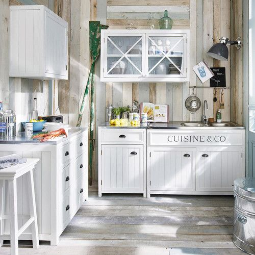 Maisons du monde white kitchen cabinets