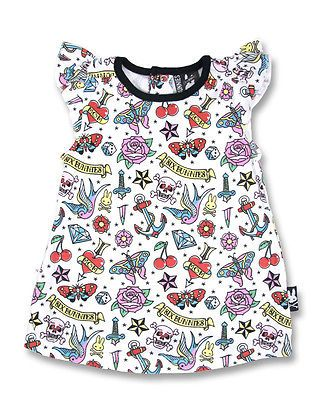 Details about Six Bunnies cute flash baby dress tattoo