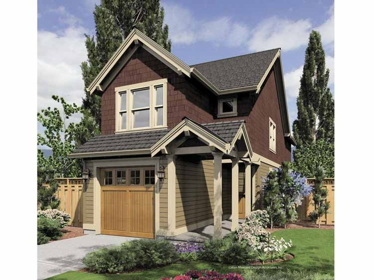 17 best images about two story shotgun renovations on for Narrow house plans with attached garage