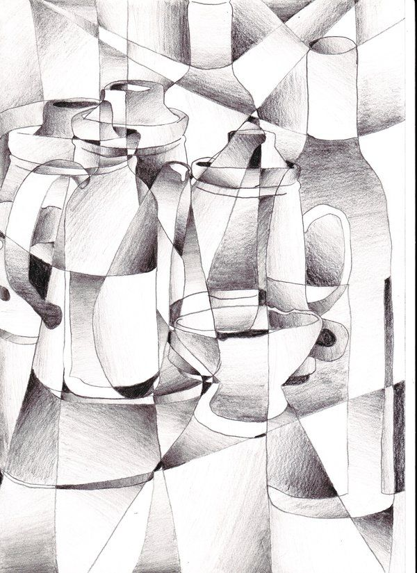 cubism still life by riartha on deviantART