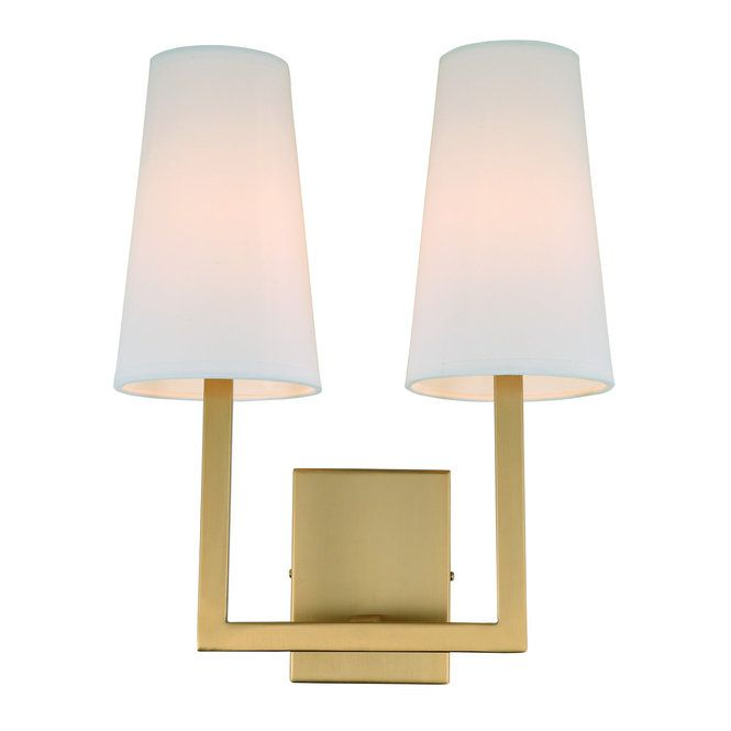 Demure Simplicity Sconce 2 Light Wall Sconce Lighting Sconces Contemporary Wall Sconces