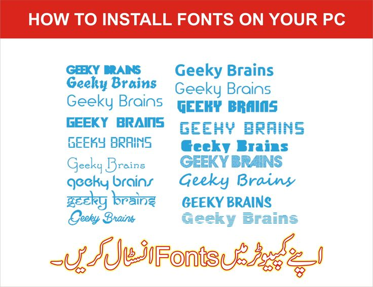 Install fonts in your Computer Download fonts. Open the font folder. Right-click on the font file click on open. In the window that appears, click on the Install button.