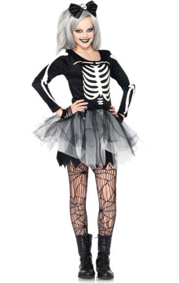 Teen Skeleton Girl Costume | Jokers Masquerade