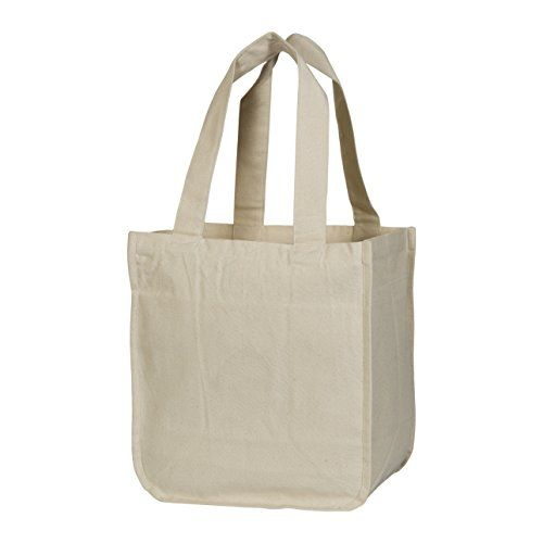 20fa3d50025 Best Canvas Grocery Shopping Bags with Bottle Sleeves - Cloth Tote ...