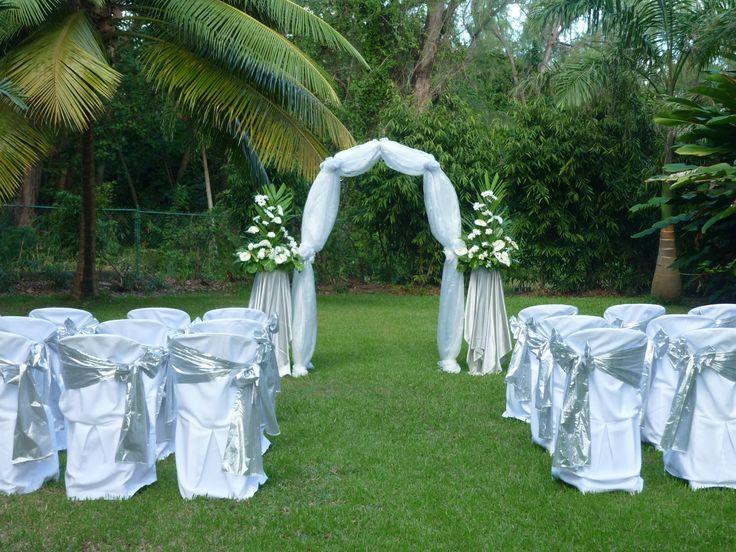 Intimate Garden Wedding Set Up