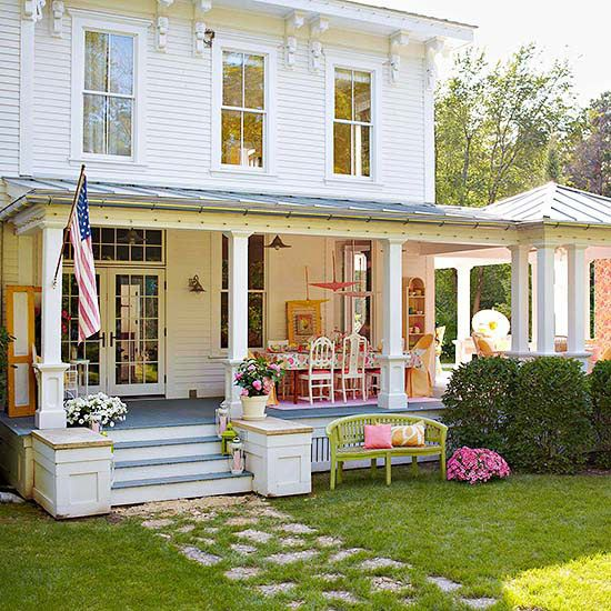Farmhouse front doors better homes and gardensporch